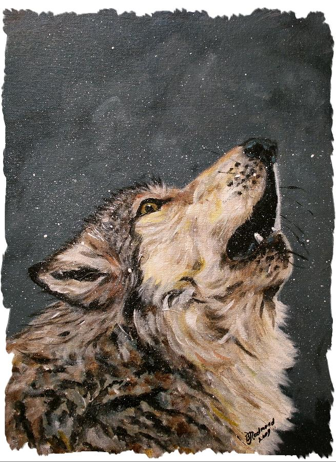 Howling Timber Wolf by BJ Redmond