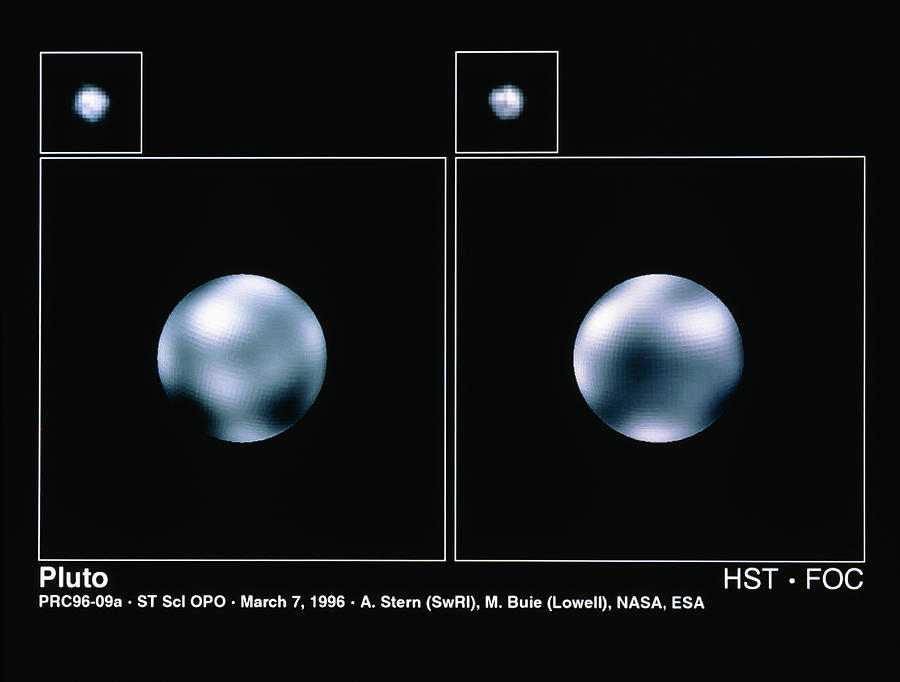 Hubble Space Telescope Images Of Pluto Photograph by ...
