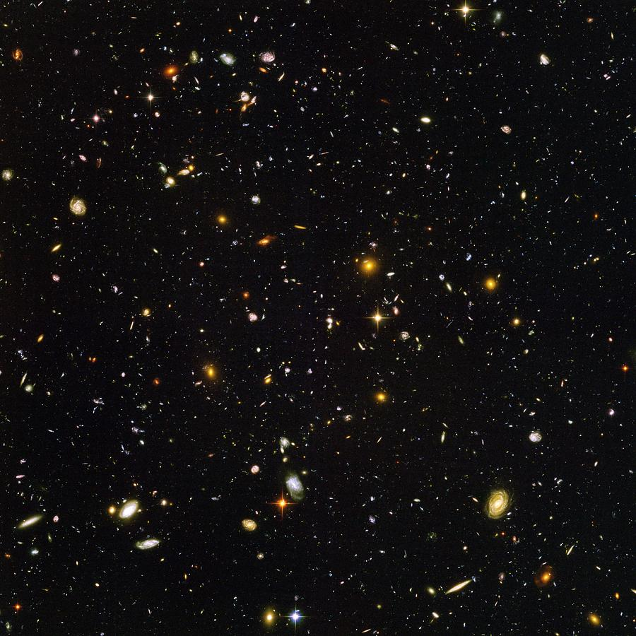 Hubble Ultra Deep Field Galaxies Photograph  - Hubble Ultra Deep Field Galaxies Fine Art Print