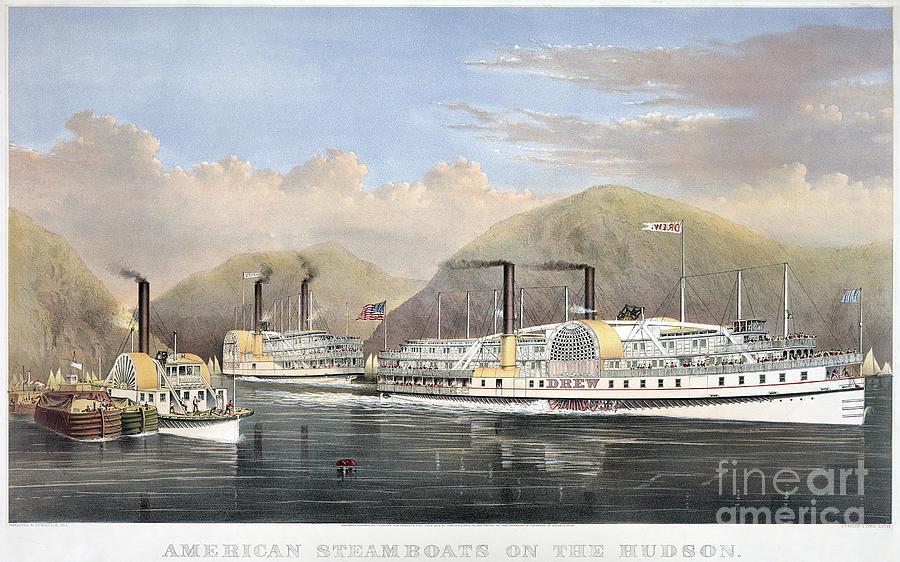 Hudson River Steamships Photograph