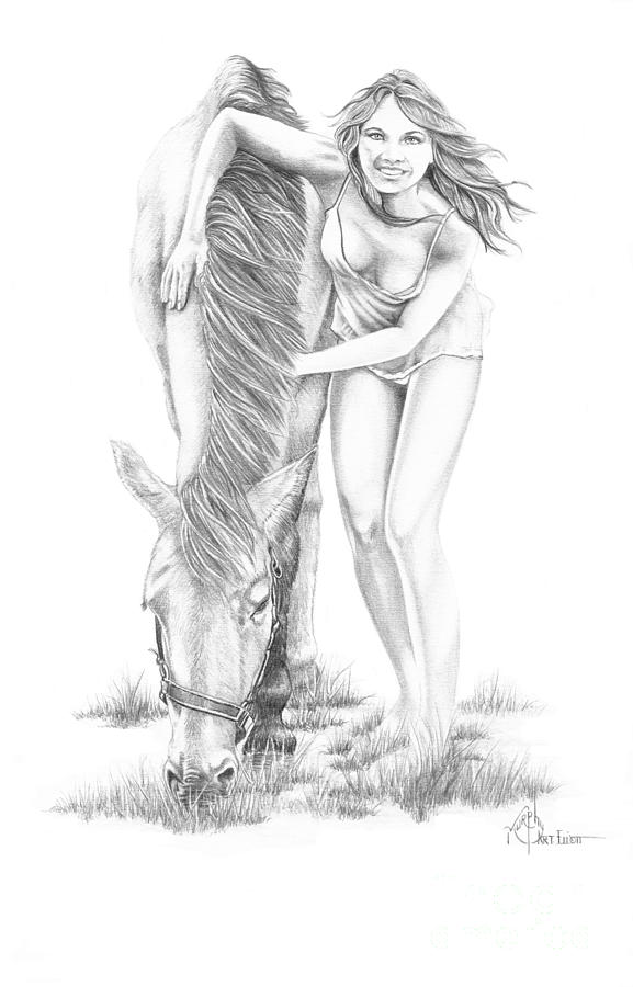 Hug A Horse Drawing