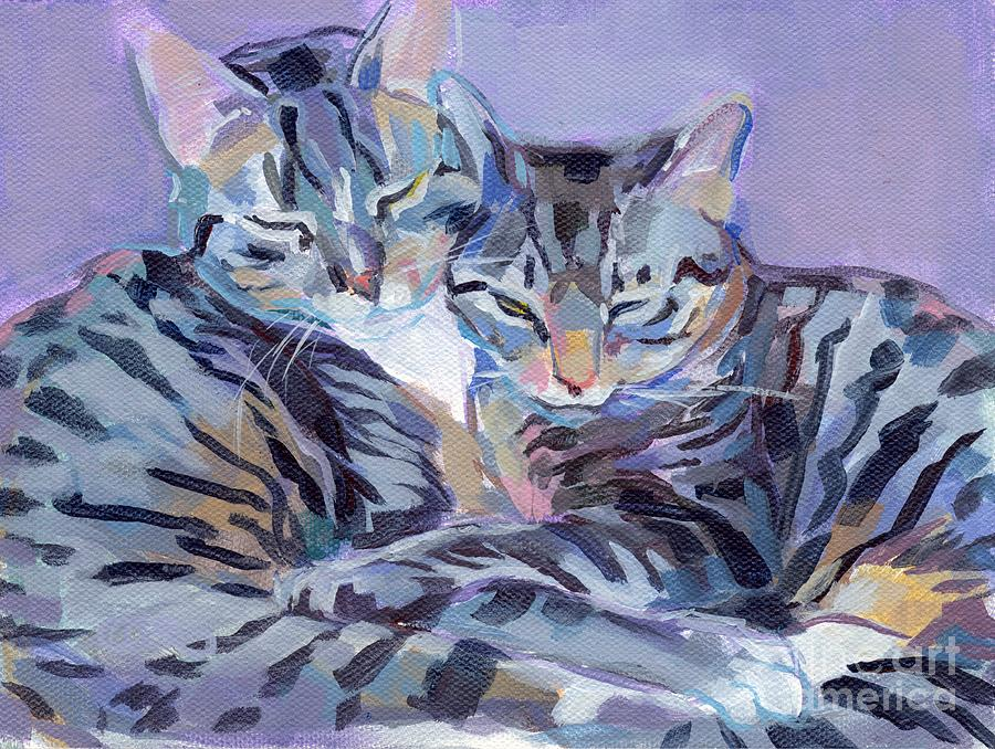 Hugs Purrs And Stripes Painting