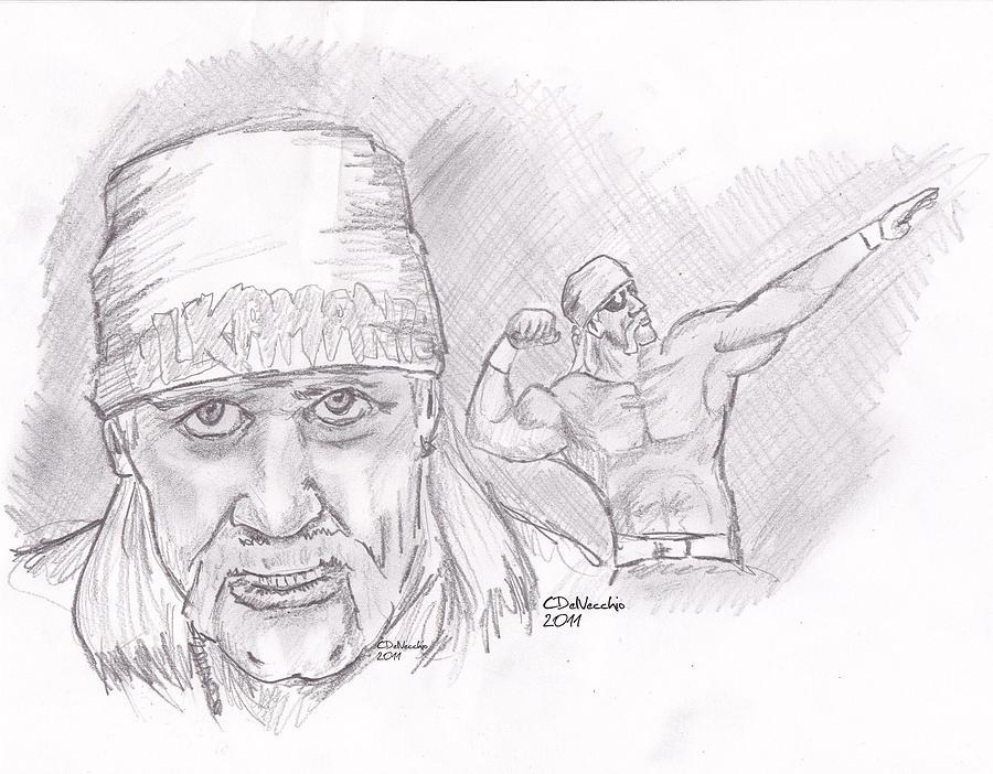 Hulk Hogan Immortal Drawing By Chris DelVecchio