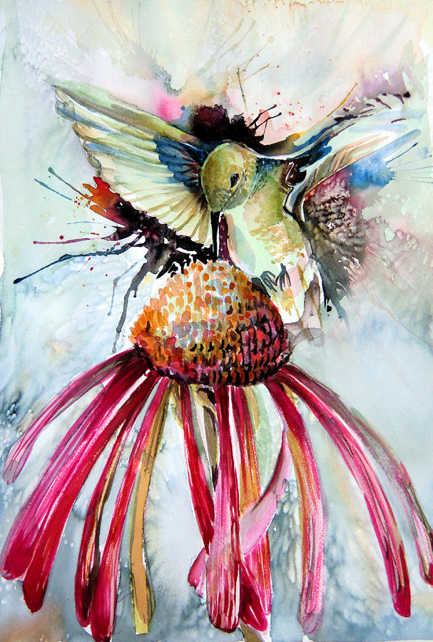 Humming Bird Painting  - Humming Bird Fine Art Print