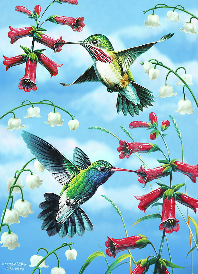 Humming Birds Painting  - Humming Birds Fine Art Print