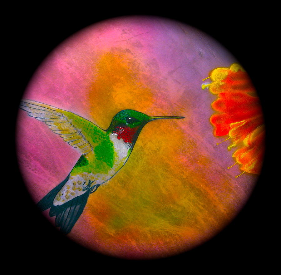 Hummingbird  Mixed Media  - Hummingbird  Fine Art Print