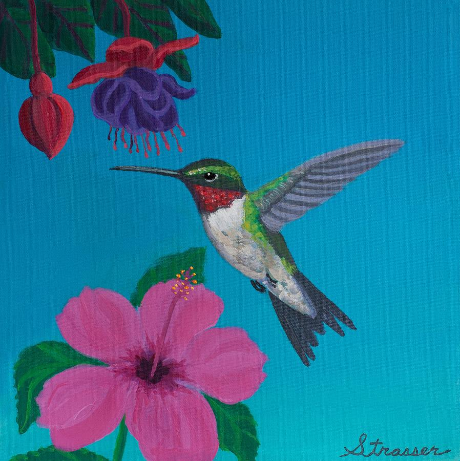 Hummingbird Heaven Painting