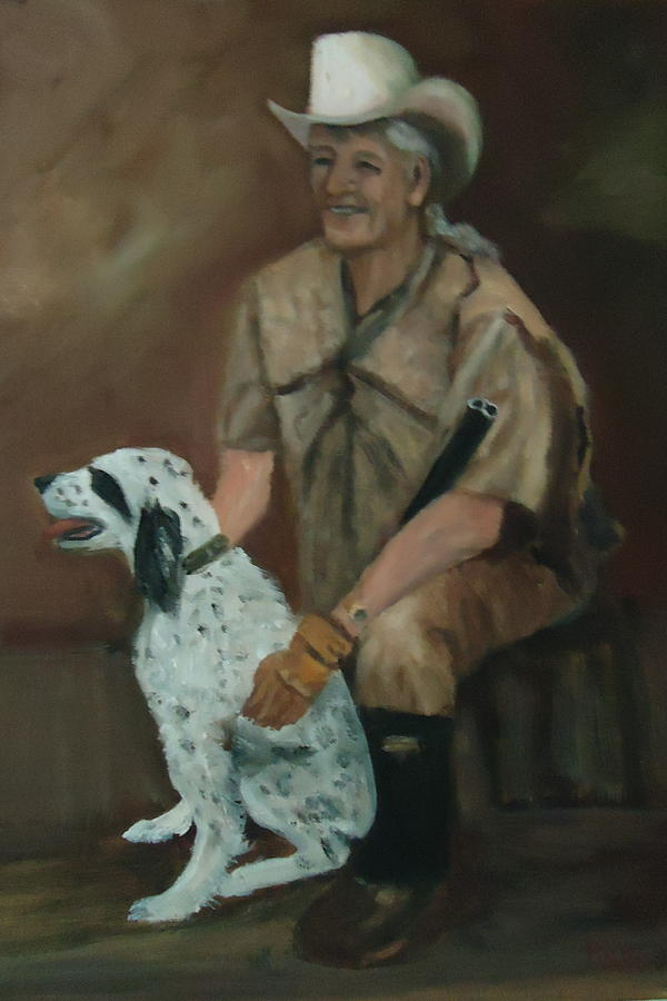 Hunting Dog And Master Painting  - Hunting Dog And Master Fine Art Print