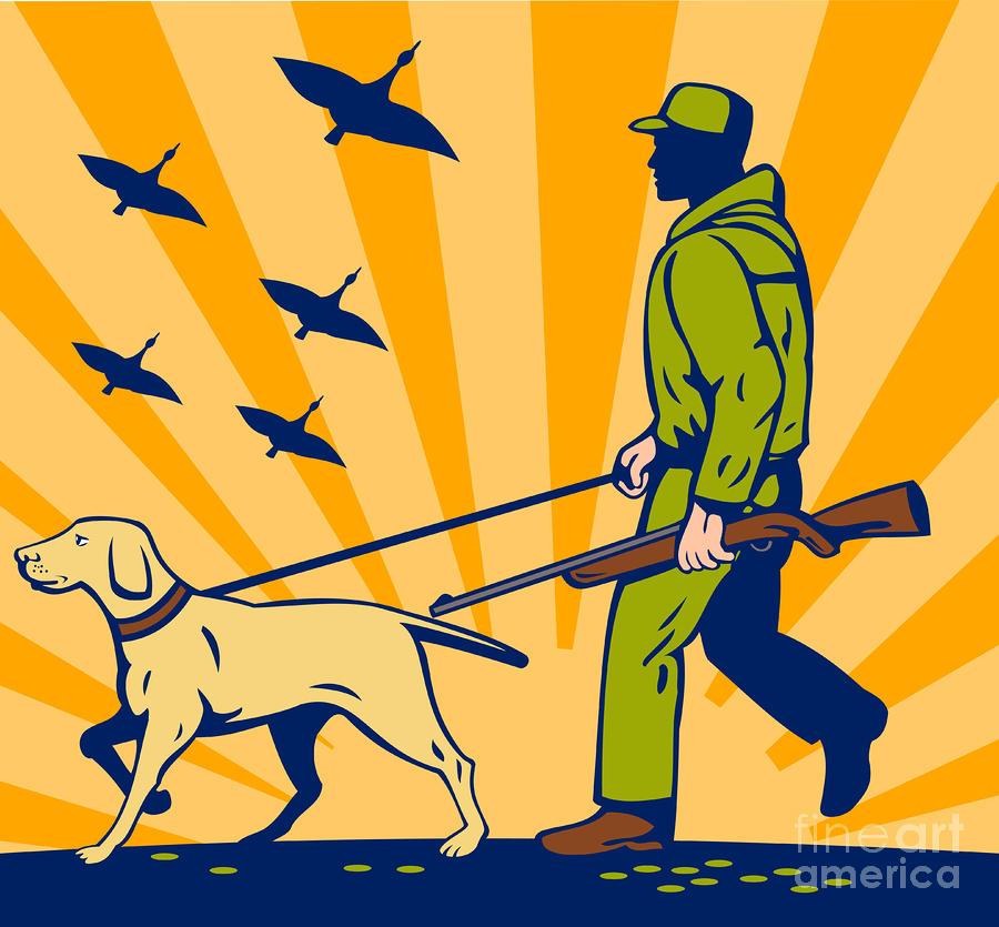Hunting Gun Dog Digital Art