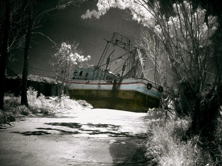Hurricane Katrina - In My Neighborhood A 35ft. Shrimp Boat Photograph  - Hurricane Katrina - In My Neighborhood A 35ft. Shrimp Boat Fine Art Print