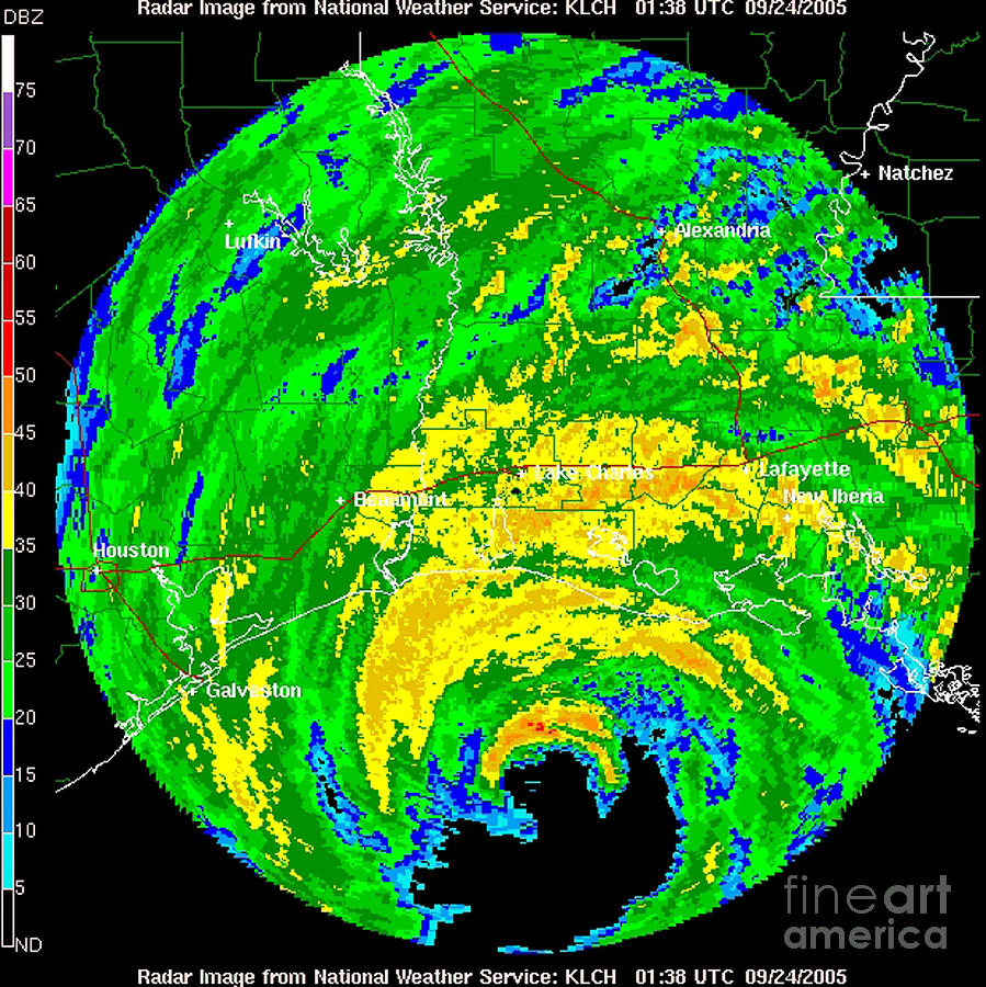 Hurricane Rita, Wfo Radar, 2005 Photograph