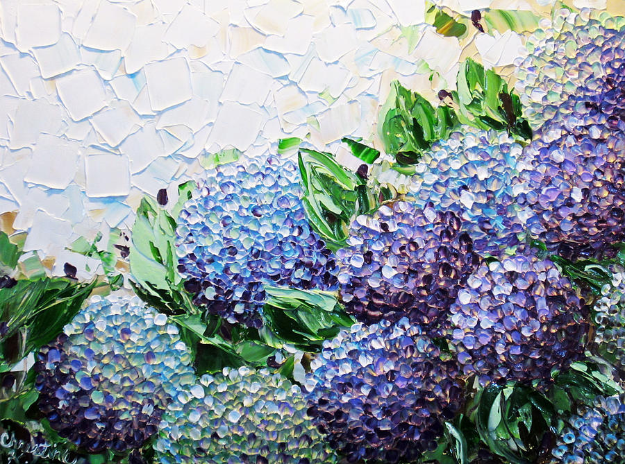 Hydrangea At Daybreak is a painting by Christine Krainock which was ...