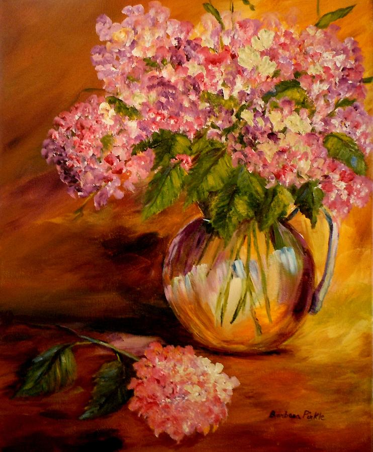 Hydrangeas From The Garden Painting  - Hydrangeas From The Garden Fine Art Print