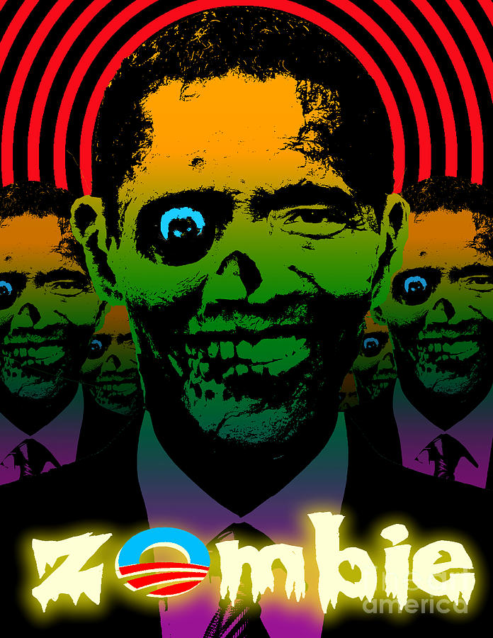 Hypno Obama Zombie Horde Digital Art