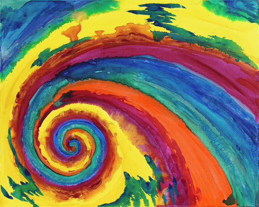 Hypnotic Swirl Painting
