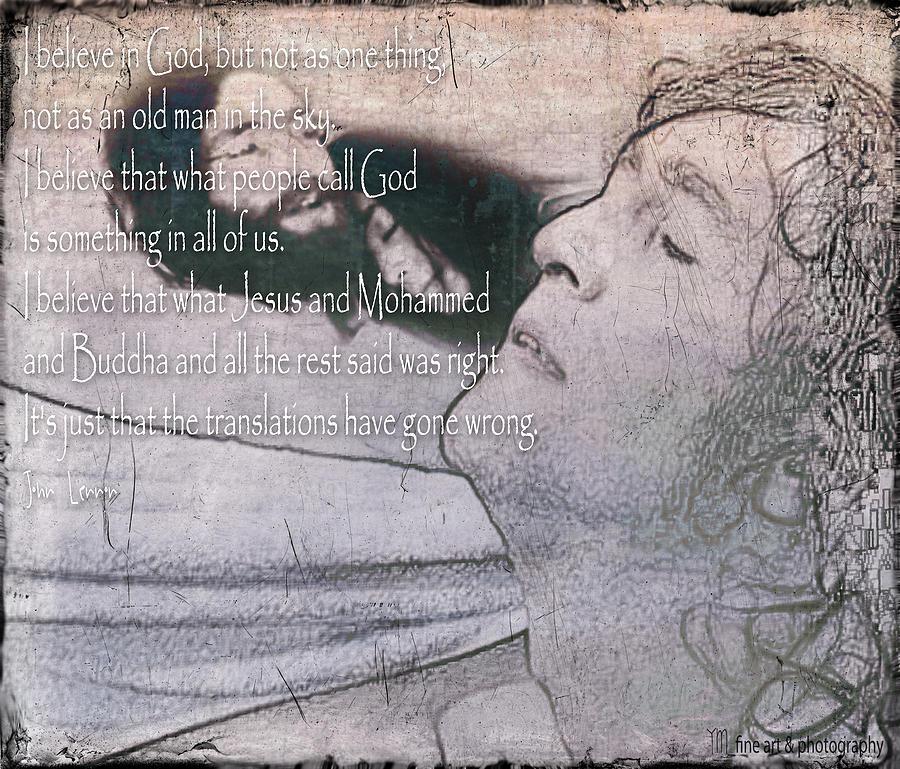 John Lennon Digital Art - I Believe _ John Lennon by Yvon van der Wijk