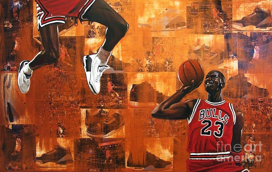 I Believe I Can Fly - Michael Jordan Painting  - I Believe I Can Fly - Michael Jordan Fine Art Print