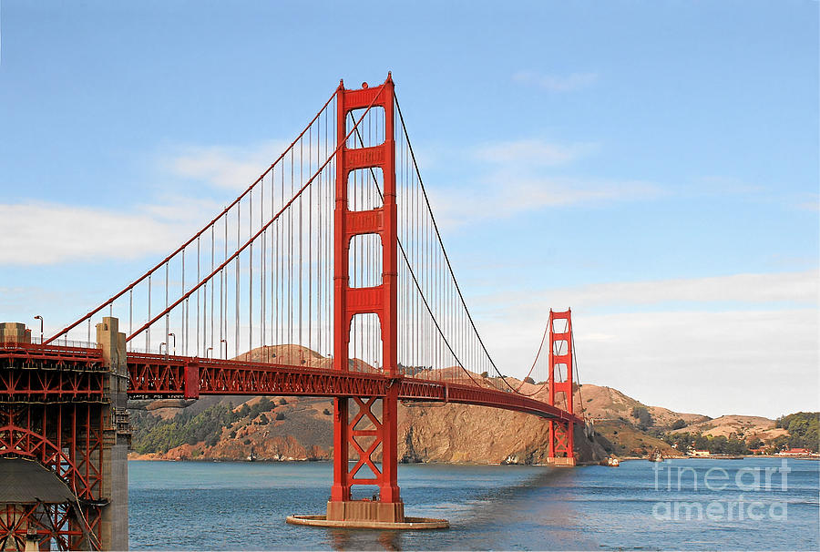 I Guard The California Shore - Golden Gate Bridge San Francisco Ca Photograph  - I Guard The California Shore - Golden Gate Bridge San Francisco Ca Fine Art Print