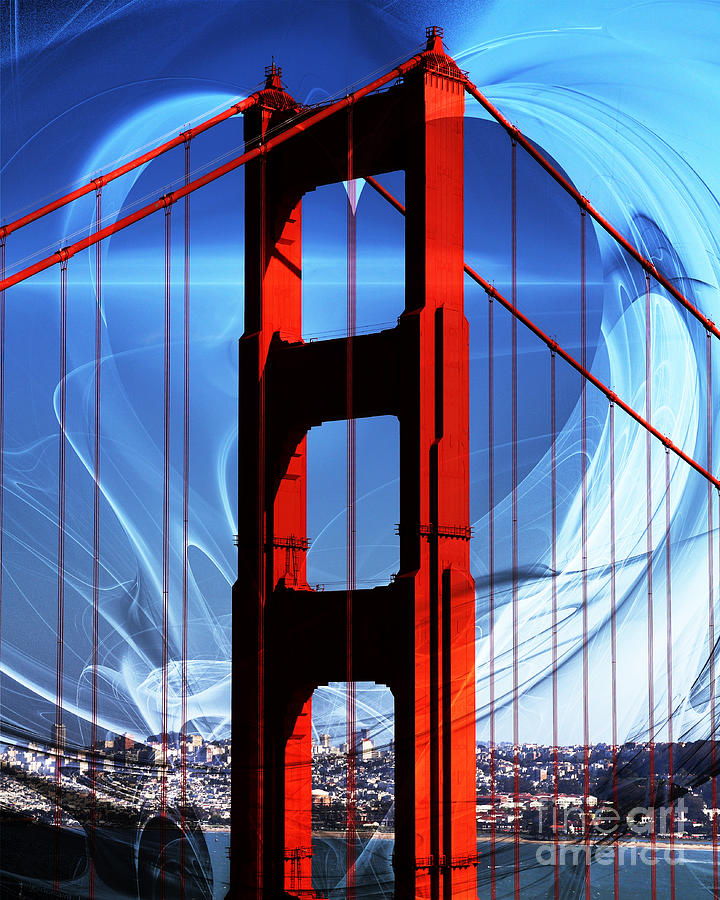 San Francisco Photograph - I Left My Heart In San Francisco . Golden Gate Bridge by Wingsdomain Art and Photography