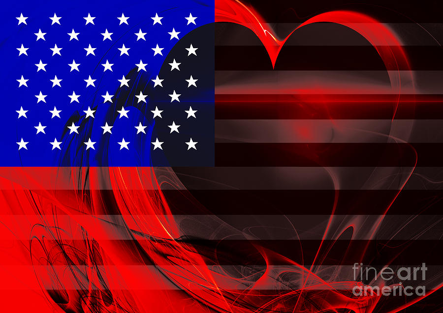 Usa Photograph - I Love America by Wingsdomain Art and Photography