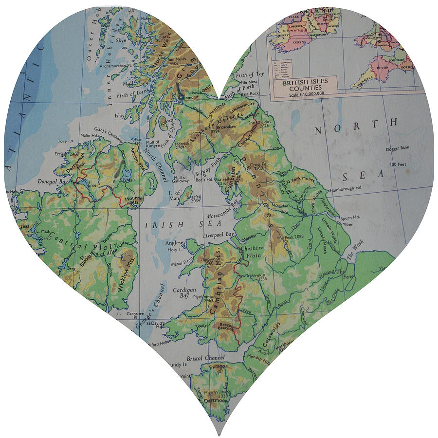 I Love England Heart Map Georgia Fowler