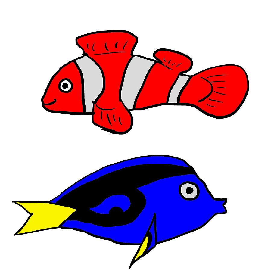 I love fish digital art by goham kamal for I love the fishes