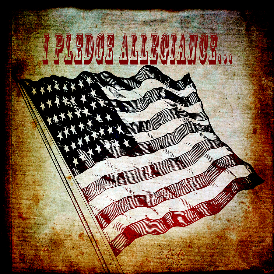 I Pledge Allegiance Mixed Media  - I Pledge Allegiance Fine Art Print