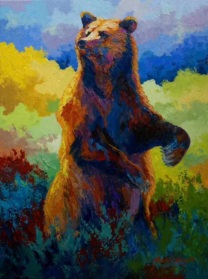 I Spy - Grizzly Bear Painting