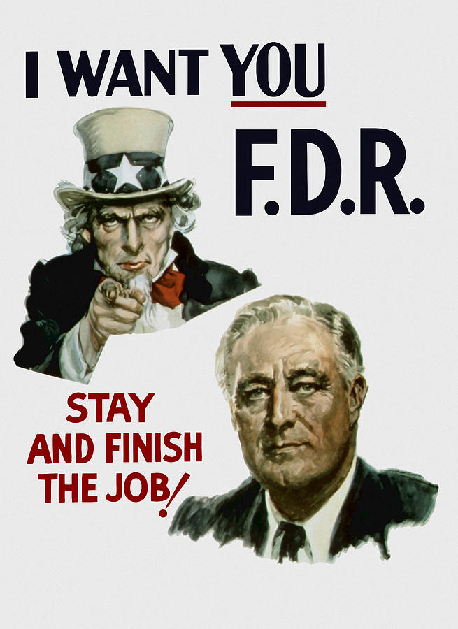 I Want You Fdr  Painting  - I Want You Fdr  Fine Art Print
