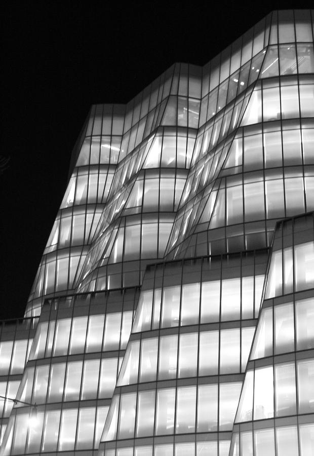 Iac Building Night Time  Photograph  - Iac Building Night Time  Fine Art Print