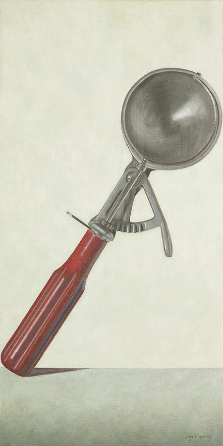 Ice Cream Scoop Painting  - Ice Cream Scoop Fine Art Print