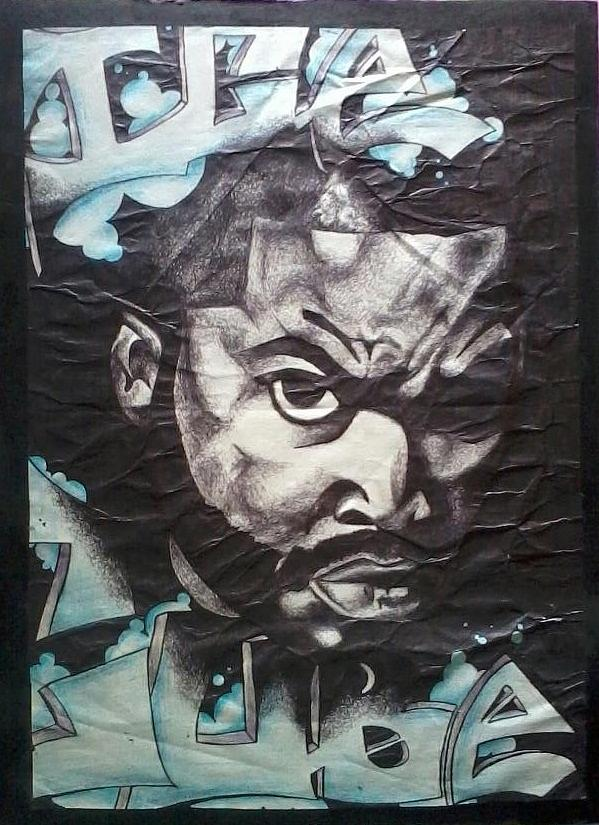 Ice Cube Drawing - Ice Cube by Abby Williams