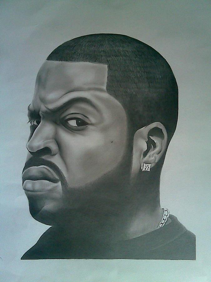 Ice Cube Drawing by Edward Onsoh