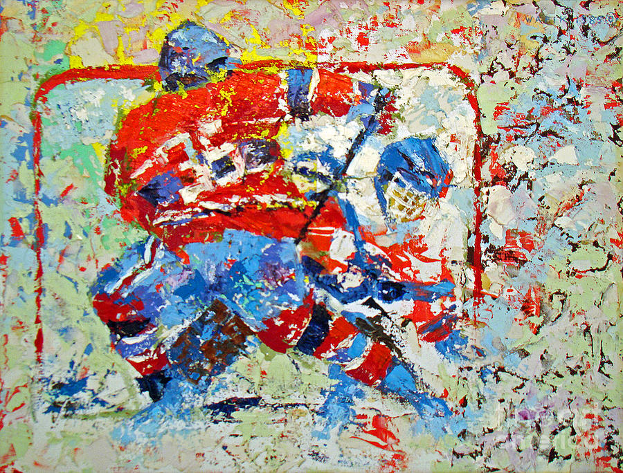 Ice Hockey No1 Painting  - Ice Hockey No1 Fine Art Print
