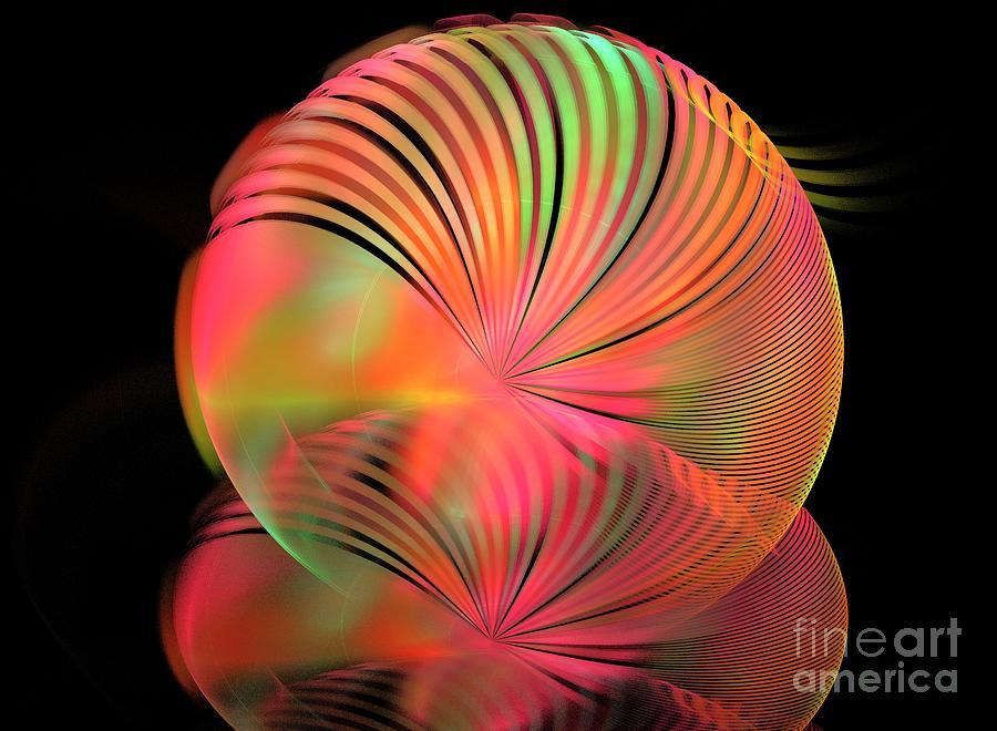 Apophysis Digital Art - Ice Plant by Kim Sy Ok