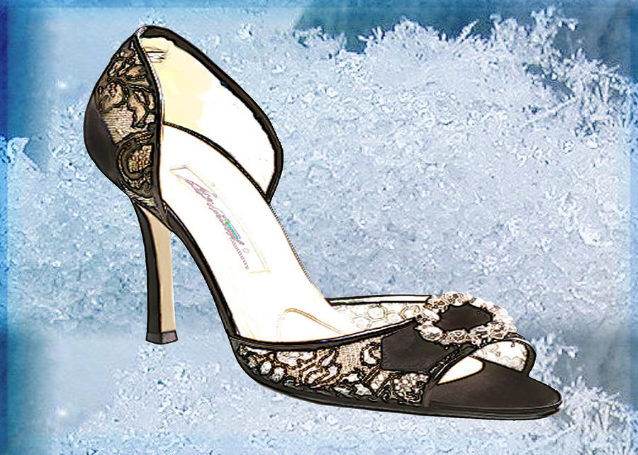 Ice Princess Lace Pumps Painting  - Ice Princess Lace Pumps Fine Art Print