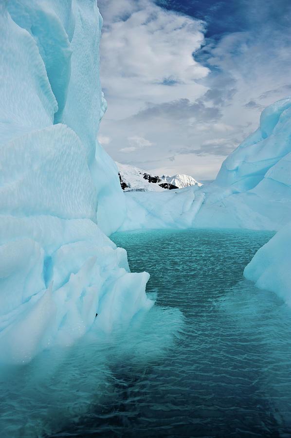 Vertical Photograph - Iceberg Lagoon by Duane Miller