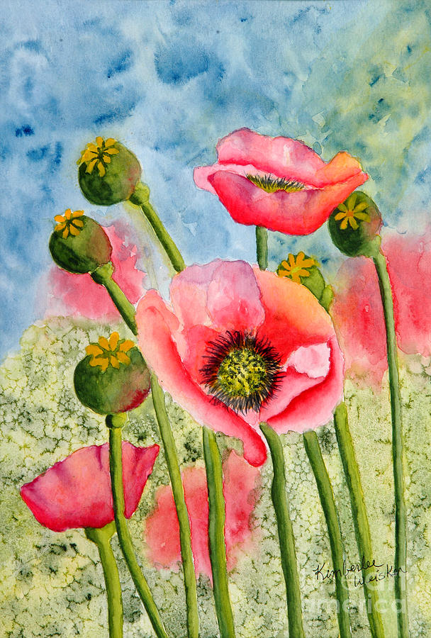Iceland Poppies Painting - Iceland Beauties by Kimberlee Weisker