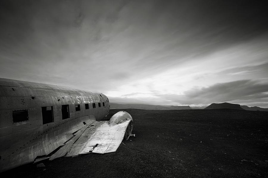 Iceland Photograph - Iceland Dc-3 by Nina Papiorek