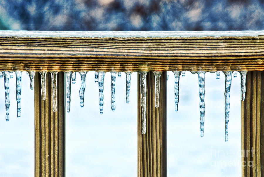Ice Photograph - Icicles by HD Connelly
