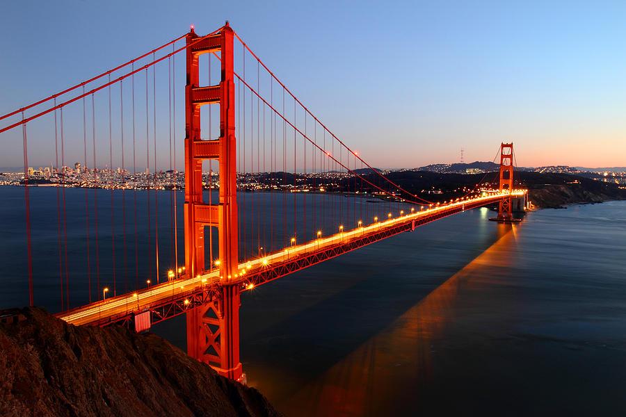 Iconic Golden Gate Bridge In San Francisco Photograph