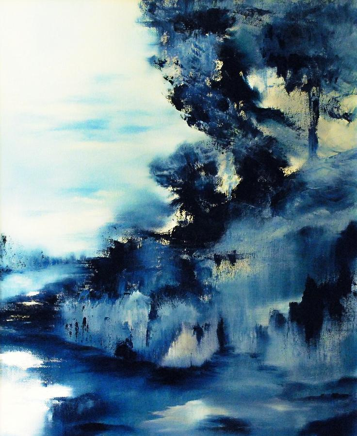 Icy blue abstract painting | Paintings to Paint | Pinterest