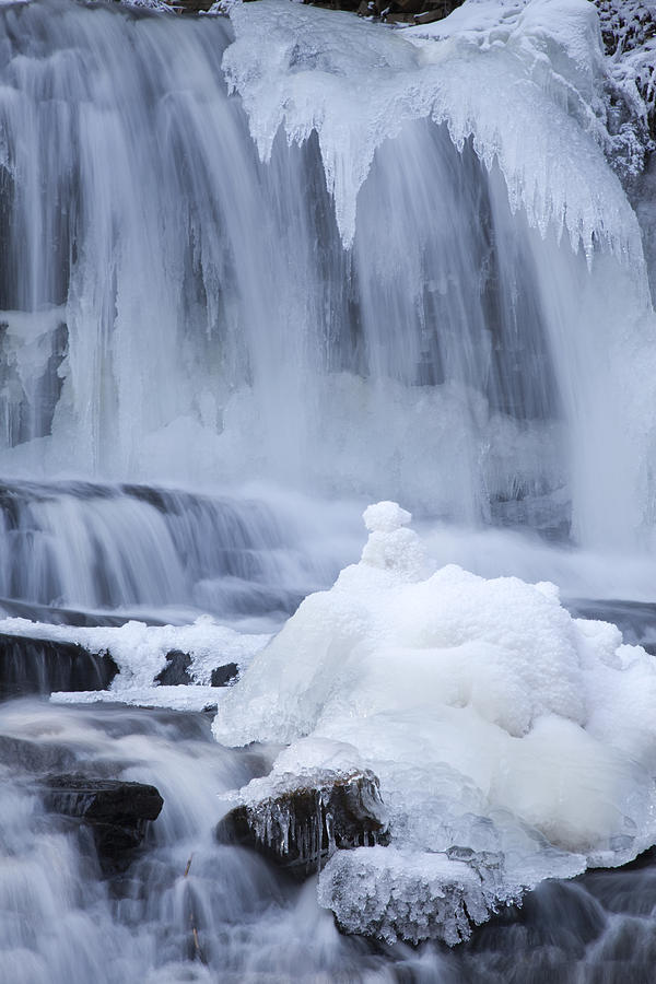 Icy Winter Waterfall Photograph