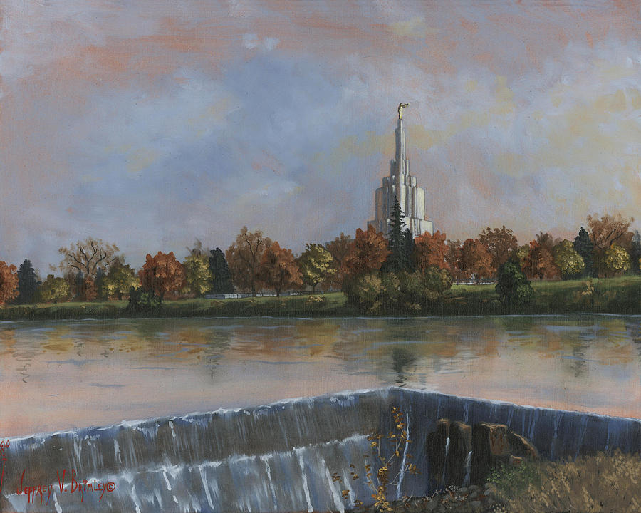 Idaho Falls Temple Painting  - Idaho Falls Temple Fine Art Print