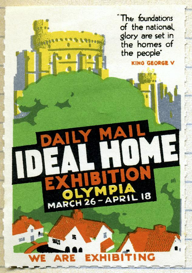Ideal Home Exhibition Stamp, 1920 Photograph