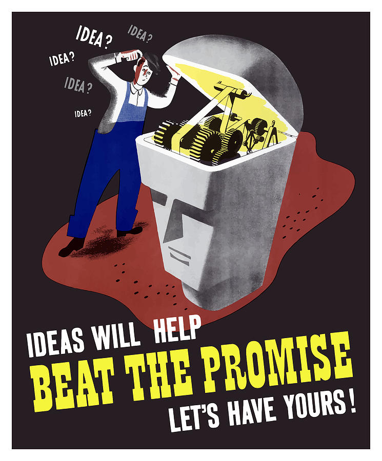 Ideas Will Help Beat The Promise Digital Art  - Ideas Will Help Beat The Promise Fine Art Print