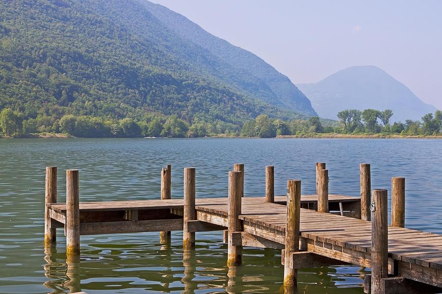Travel Photograph - idyllic tarn in Italy by Joana Kruse