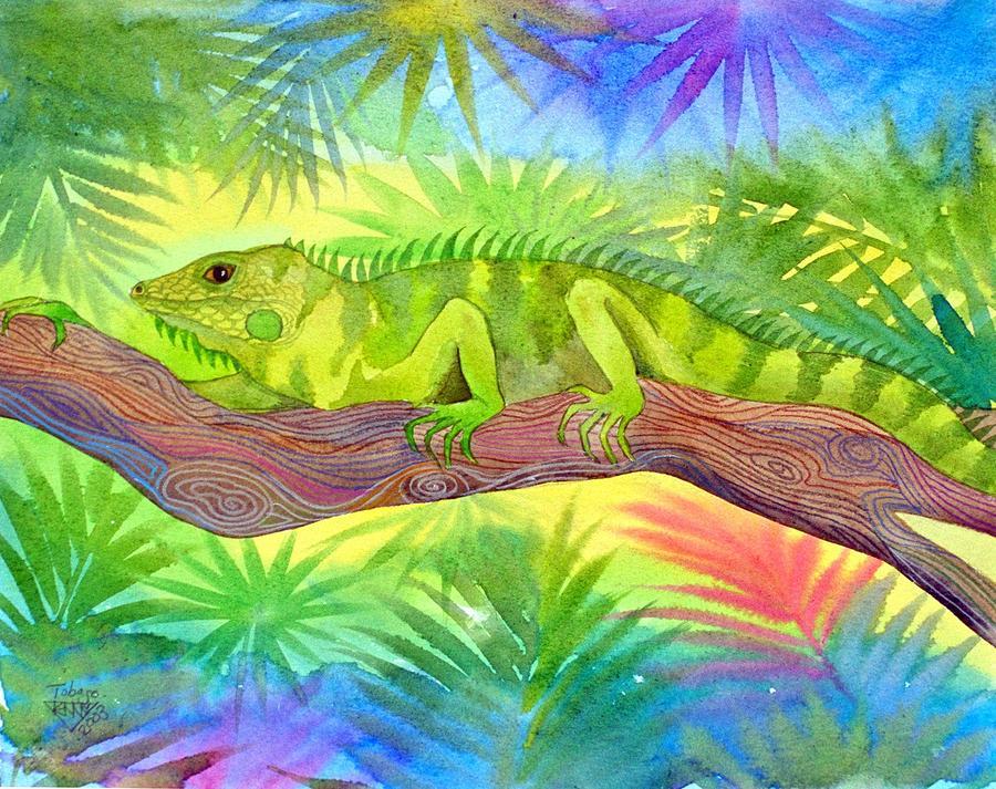 Iguana Painting