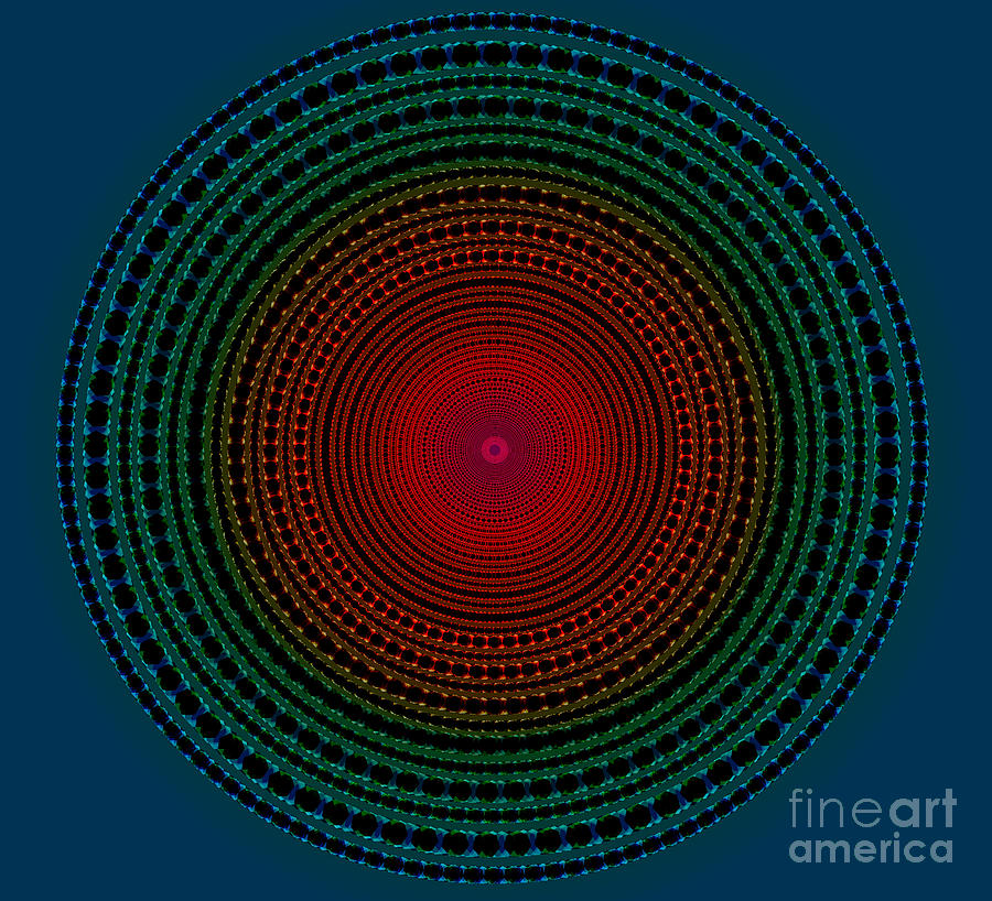 Illuminate Dark Circle  Digital Art