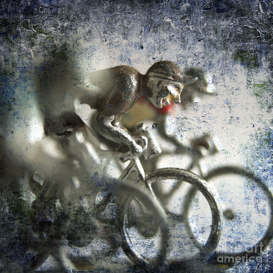 Illustration Of Cyclists Photograph  - Illustration Of Cyclists Fine Art Print